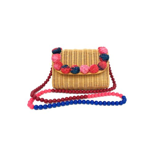 CLUTCH-DE-VIME-POMPOM-PINKRED